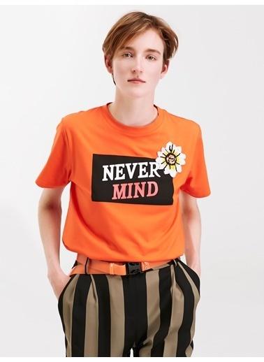 Twist Tişört Oranj